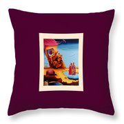 Surreal  Holy Virgin, M27 Throw Pillow