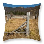 Holzwarth Historic Site In The Kawuneeche Valley Throw Pillow