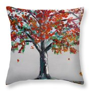 Homage To Autumn Throw Pillow