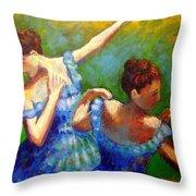 Homage To Degas Throw Pillow