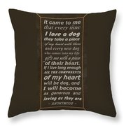 Homage To The Dogs In Our Lives Throw Pillow