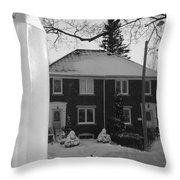 Homage To Winter In The City 3 Throw Pillow
