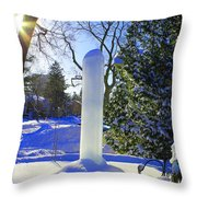 Homage To Winter In The City Throw Pillow