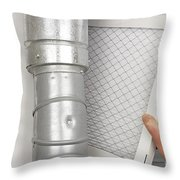 Home Air Filter Replacement Throw Pillow