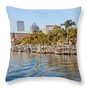 Home And Water And City Throw Pillow