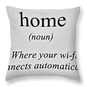 Home And Wifi Throw Pillow