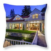 Home At Night 1 Throw Pillow