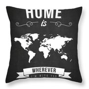 Home - Dark Throw Pillow by Aged Pixel