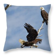 Home Defense Throw Pillow