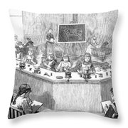 Home Economics Class, 1886 Throw Pillow