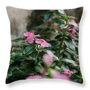 Home Flower Throw Pillow