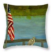 Home For The 4th Throw Pillow