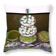 Home For The Holidays - Use Red-cyan 3d Glasses Throw Pillow