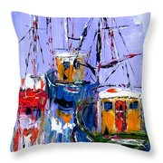 Wall Art Print  Titled Sail , Explore , Discover Throw Pillow