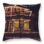 Home Holiday Lights 2011 Throw Pillow by Feile Case