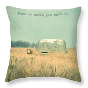 Home Is... Throw Pillow