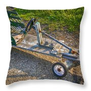 Home Made Go Kart Throw Pillow