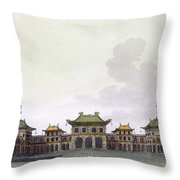 Home Of A Rich Individual In Peking Throw Pillow
