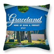 Home Of Elvis Throw Pillow
