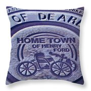 Home Of Henry Ford Throw Pillow