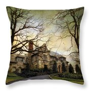 Home On A Hill Throw Pillow