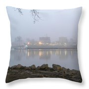 Home On The Banks Of The Ohio Throw Pillow
