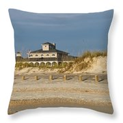 Home On The Beach Throw Pillow