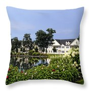 Home On The Golf Course Throw Pillow