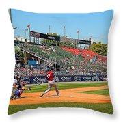 Home Run Or Struck Out Throw Pillow