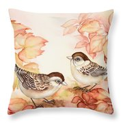 Home Sparrows Throw Pillow
