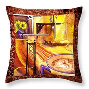 Home Sweet Home Decorative Design Welcoming One Throw Pillow