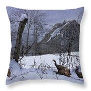 Home Through The Snow Throw Pillow
