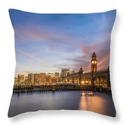 Home To Hoboken Throw Pillow
