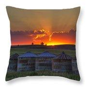 Home Town Sunset Panorama Throw Pillow