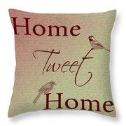 Home Tweet Home Birds Throw Pillow