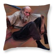 Homeless 3 - A Place To Rest Throw Pillow