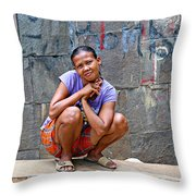 Homeless In Indonesia Throw Pillow