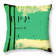 Homeless Shelter Throw Pillow by Chris Berry