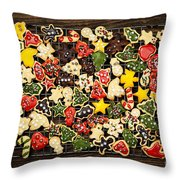 Homemade Christmas Cookies Throw Pillow by Elena Elisseeva