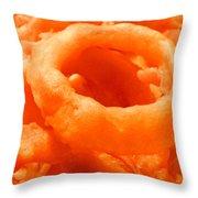 Homemade Onion Rings Throw Pillow