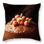 Homemade Rich Fruit Cake Throw Pillow