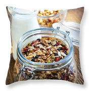 Homemade Toasted Granola Throw Pillow