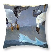 Homer's Right And Left Throw Pillow