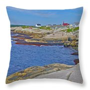 Homes Across Peggy's Cove-ns Throw Pillow