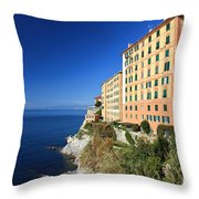 homes in Camogli Throw Pillow
