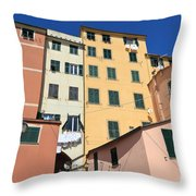 homes in Sori - Italy Throw Pillow