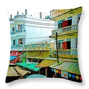 Homes In Tachilek-burma Throw Pillow