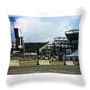 Homes Of The New England Patriots  Throw Pillow