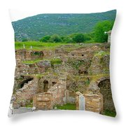 Homes Of The Rich In Central Ephesus-turkey Throw Pillow