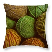 Homespun Holiday Throw Pillow